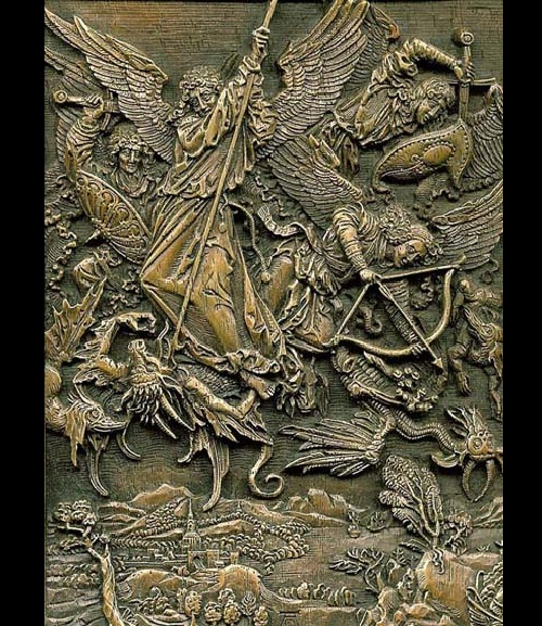 Battle of the Archangel Michael with the dragon