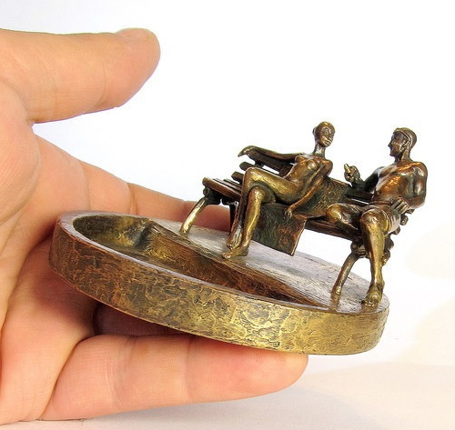 Date. Bronze Ash-tray