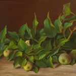 A branch of pear. 2009. Oil on canvas