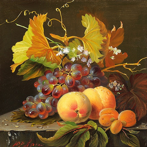 Yuri Arsenyuk exquisite floral still lifes. Fruits. 2011. Oil on canvas