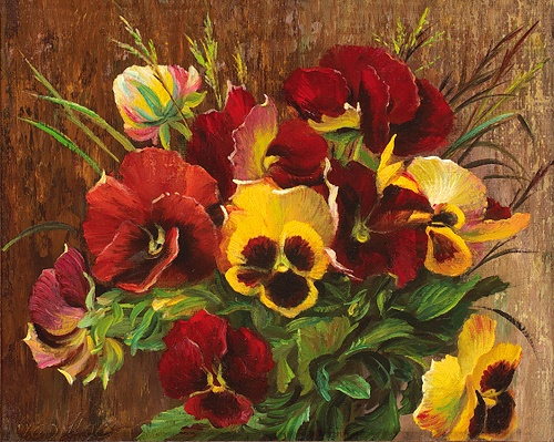 Pansies. 2010. Oil on canvas