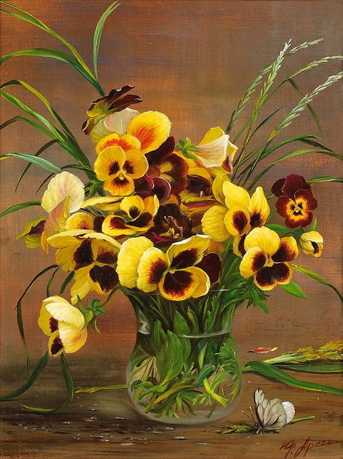 Pansies. 2013. Oil on canvas