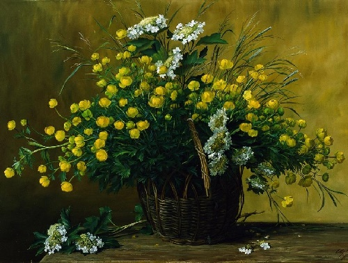 globe flower. 2005. Oil on canvas