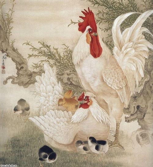 The image of the Rooster is surrounded by a number of different symbolic meanings reflected in the Chinese literature and philosophy