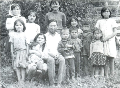 Children of the Village Anzass. Arbachakova left in the front row