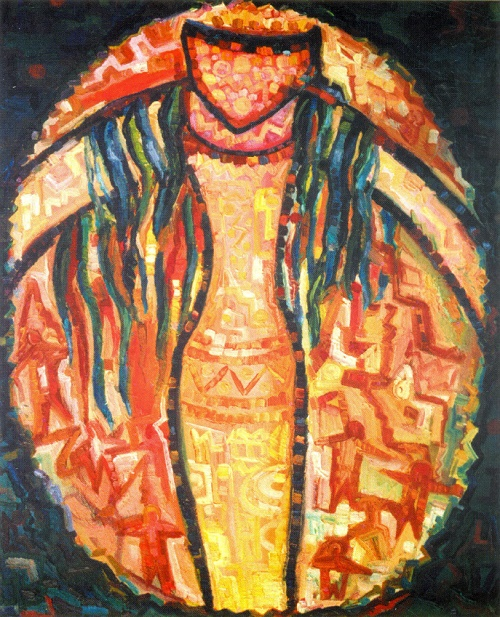 Song of the Shaman. Oil on cardboard. 1997