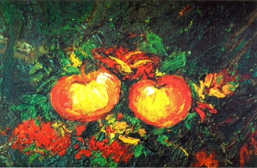 Two. Canvas, oil. 1996