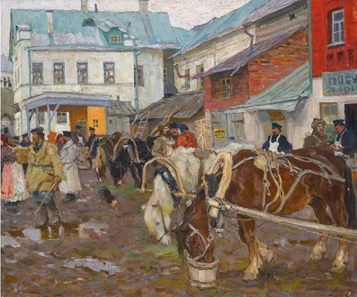 Russian Jewish painter Arnold Lakhovsky (27 January 1880 - 7 January 1937)