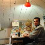 Master in his workshop. Camomile ceramic angels by Aram Hunanyan
