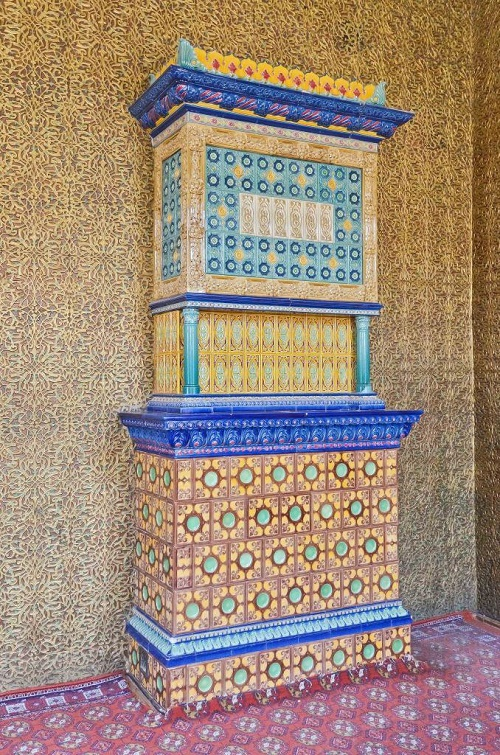 Beautifully decorated furnace and wall
