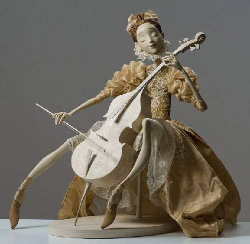 Violin player, or music lessons