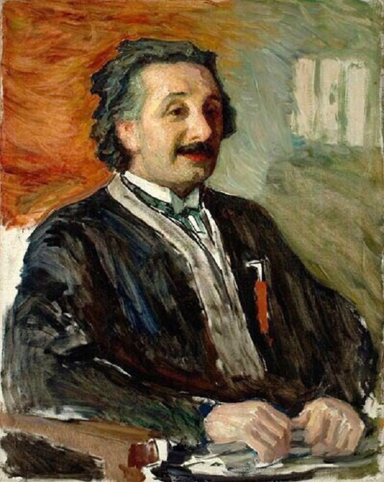 Albert Einstein. Portrait. Russian painter Leonid Osipovich Pasternak (3 April 1862 - May 31, 1945)