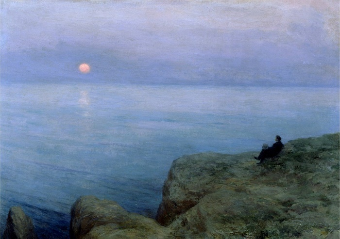 Alexandr Pushkin at the sea shore. 1896