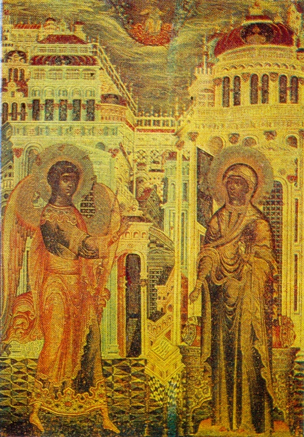Fragment. Annunciation. 1659. Church of the Trinity in Nikitniki