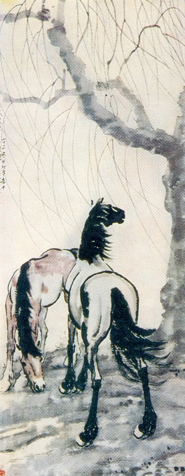 Horses. 1948. Ink, mineral paints