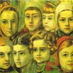 Nine children's heads. National Art Gallery. Sofia