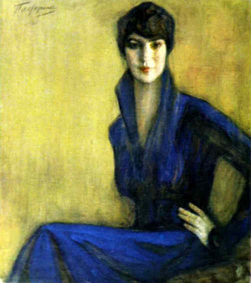 Portrait of E. Levina. 1917