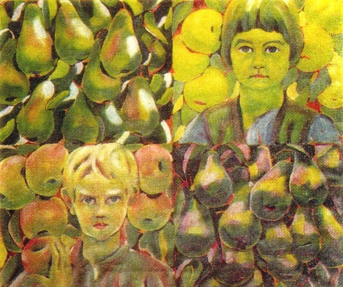 Two children among the fruits. National Art Gallery. Sofia