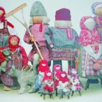 National faceless doll family, Russian hanmade art