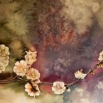 Plum flowers. Watercolors