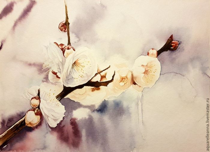 Spring. Watercolors, paper