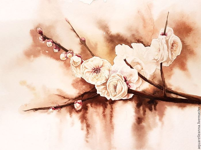 Toward the spring. Watercolor on paper