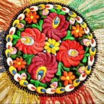 Traditional Hungarian folk art embroidery