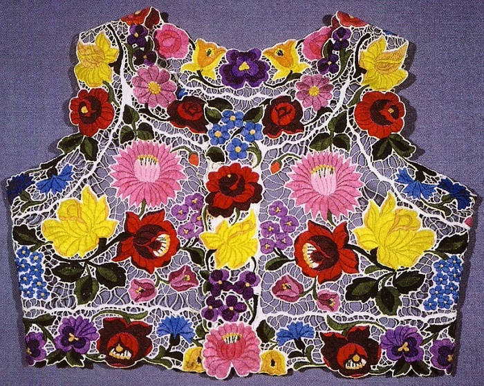 Vest, Hungarian folk embroidery