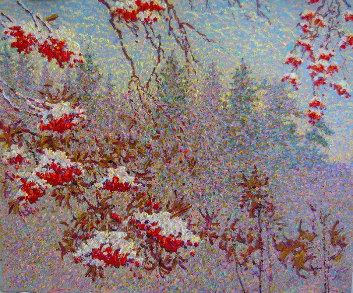 Nikolay Sorokin Kandaurov. Winter rowan