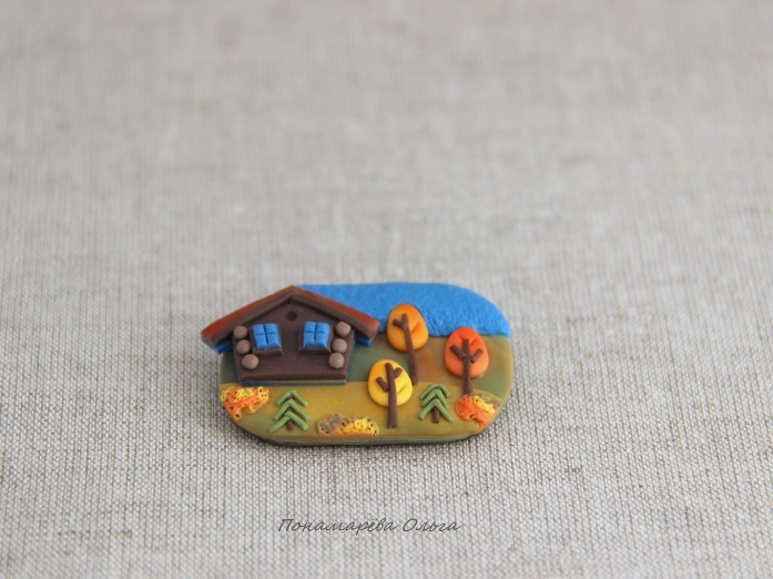 October, brooch