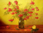 Graceful Rowan in paintings of Russian artists