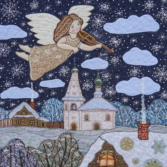 Christmas Angel. Fabulous patchwork by Suzdal textile artist Maryana Zolotova