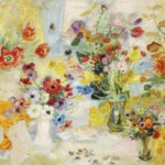 Composition from flowers. 89.5 x 115.5 cm