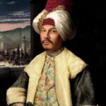 Photo reproduction of the painting by Antoine Favre 'European in Turkish Suit'. 1762-1771. Konstantin Tszyu