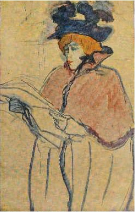 Poster by Henri de Toulouse-Lautrec to the performance of Jeanne Avril. 1893