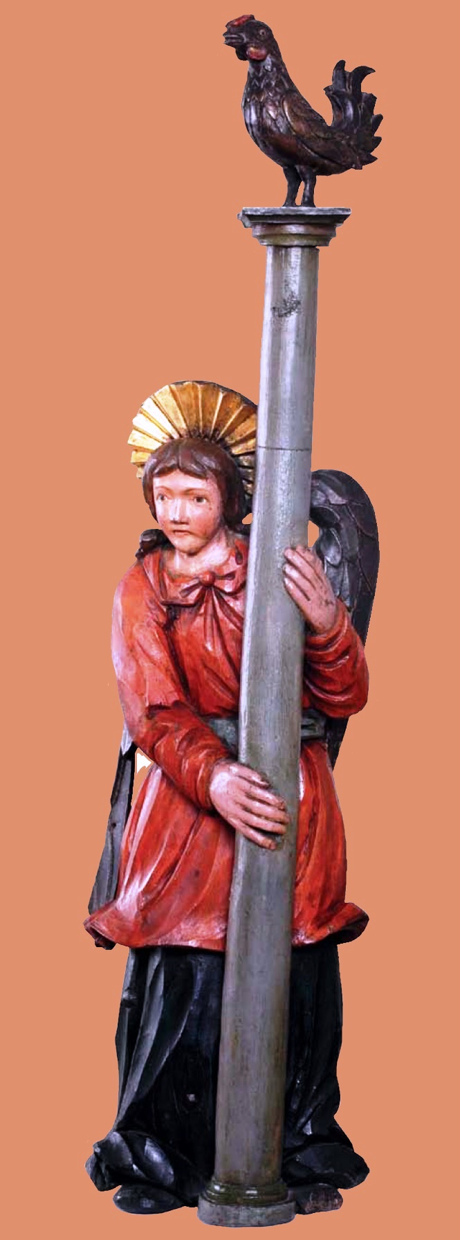 Angel with a column from the composition Passionate Angel Rite. XIX century. Village of Verkh-Yazva