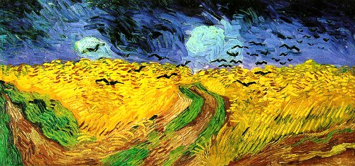 A field of wheat under the stormy sky, 1890