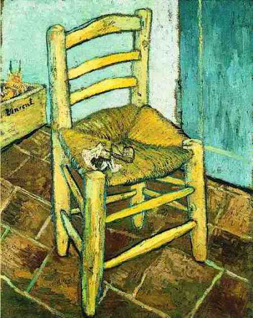 Chair of Van Gogh and his pipe. Arles, December 1890