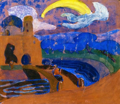 Comet, 1900 Painting. Wassily Kandinsky color theory