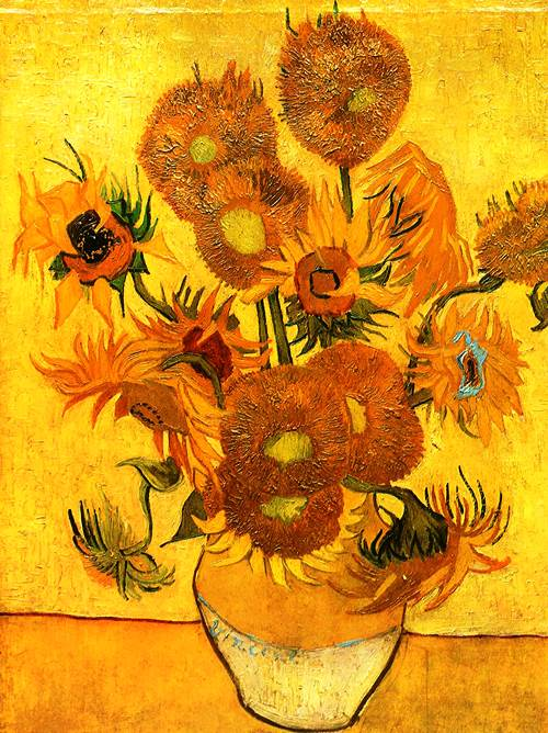 Sunflowers 1888. Yellow color for Vincent Van Gogh