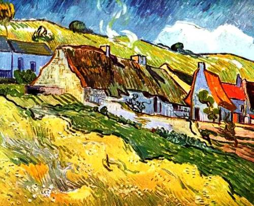 The peasant huts in Auvers