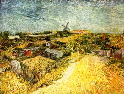 View of Montmartre, 1886-88. Yellow color for Vincent Van Gogh