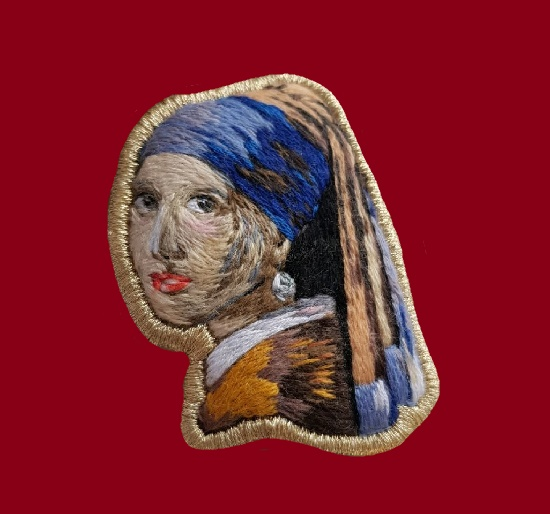 Girl with a pearl earring. 7 cm