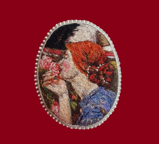On the painting by the English Pre-Raphaelite artist J. Waterhouse 'The Soul of the Rose'. 6 cm