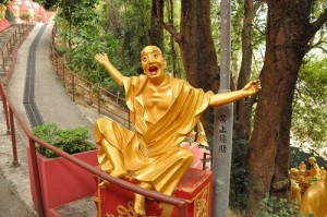 One of the traditional Buddha sculptures in Zhengzhou, China