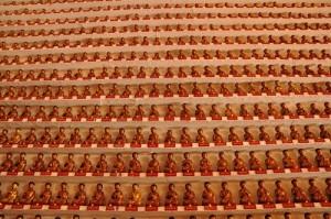 One of the traditional Buddha sculptures in Zhengzhou, China