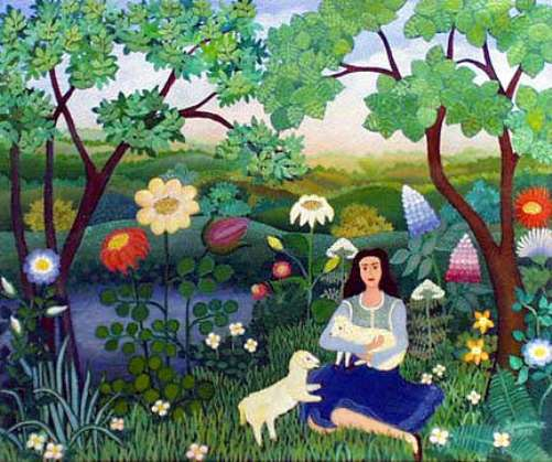 Beautiful Serbian Naive Painting