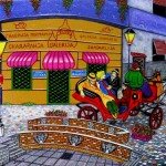 Realistic 3D street painting by Nikolaj Arndt
