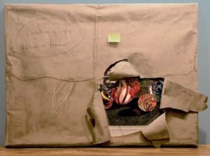 A package. Hyperrealistic Oil Paintings by American artist Steve Mills