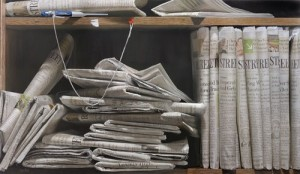Newspapers. Hyperrealistic Oil Paintings by American artist Steve Mills